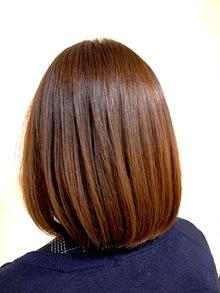 ボブスタイルに髪質改善型トリートメント!