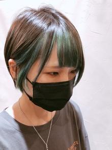 ショート×インナーグリーン【クスノセ】